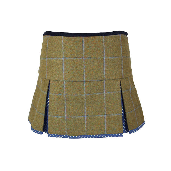Aimee Tweed Skirt in Amber Royal