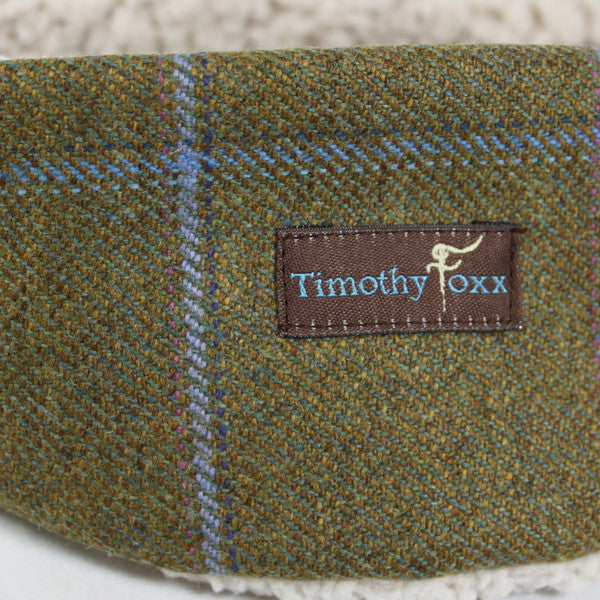 Tweed Ear Warmers in Amber