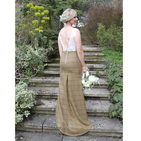 Aurora Tweed Wedding Dress