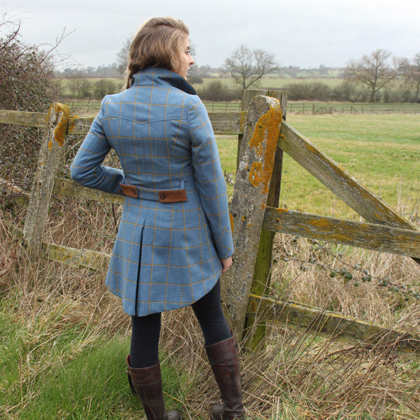 Catherine Tweed Jacket in Foxglove