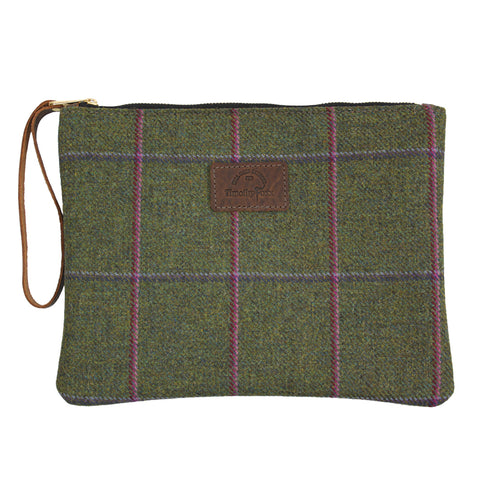 Clutch bag in Belle Tweed