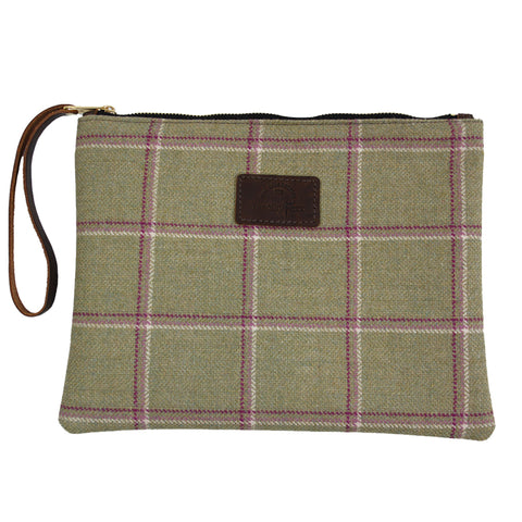 Clutch Bag in Gooseberry Tweed