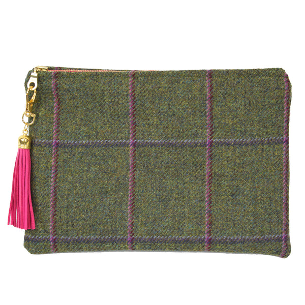 Medium Clutch bag in Belle Tweed