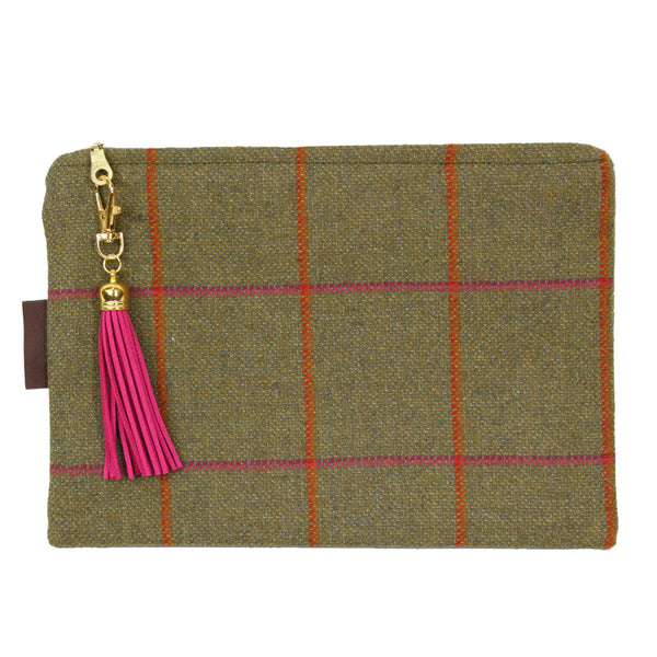 Medium Clutch bag in Juno Tweed
