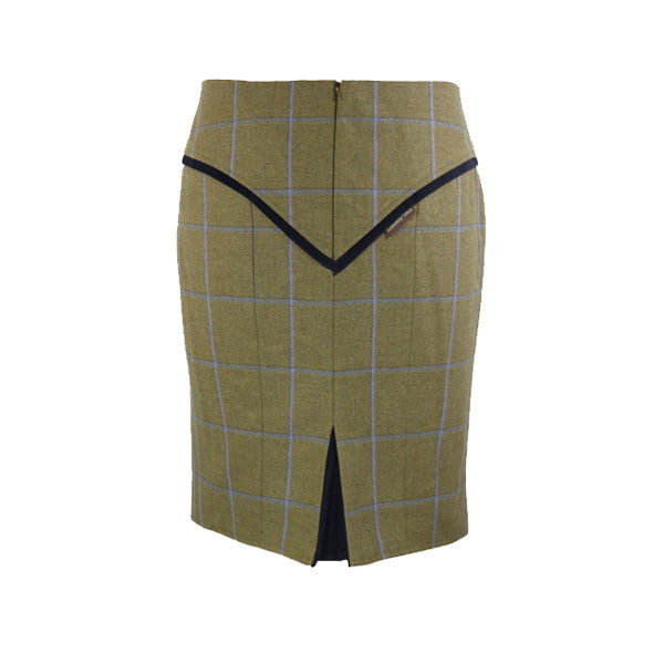 Heidi Tweed Skirt in Amber