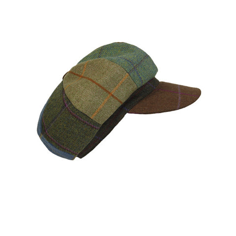 Lindsey Patchwork Tweed Cap - Chocolate Peak