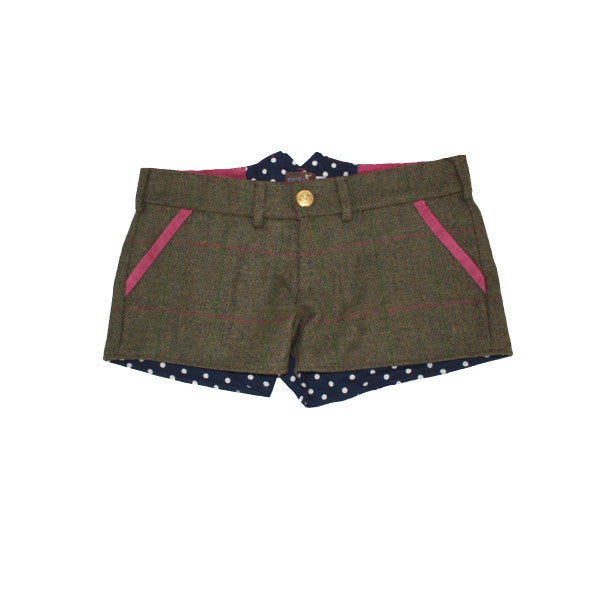 Livibum Tweed Shorts in Coral