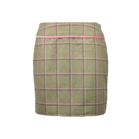 Larissa Tweed Skirt in Gooseberry