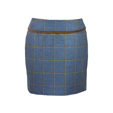 Larissa Tweed Skirt in Foxglove