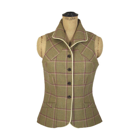 Matilda Tweed Gilet in Gooseberry