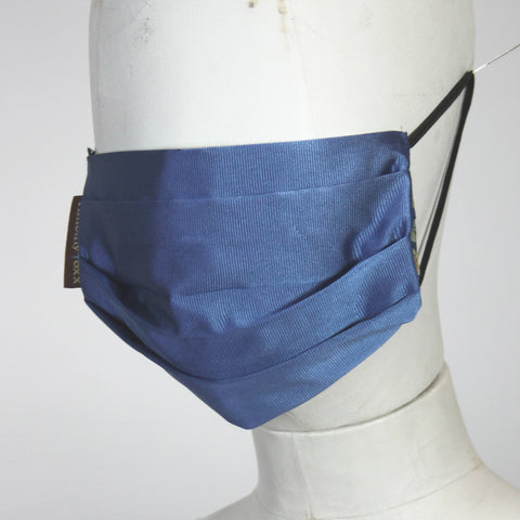Face Mask in Blue Silk