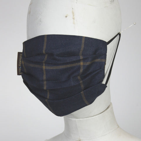 Face Mask in Navy Tweed