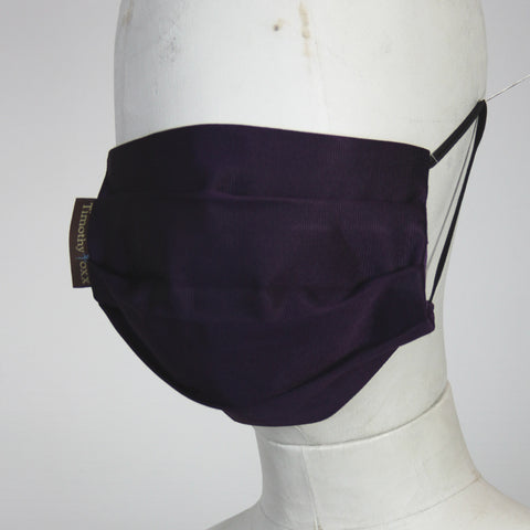 Face Mask in Purple Silk