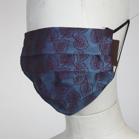 Face Mask in Reversible Silk Leaves