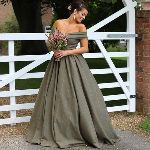 Perdie Tweed Wedding Dress
