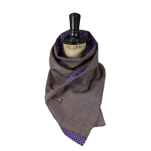 Thistle Purple Tweed Scarf