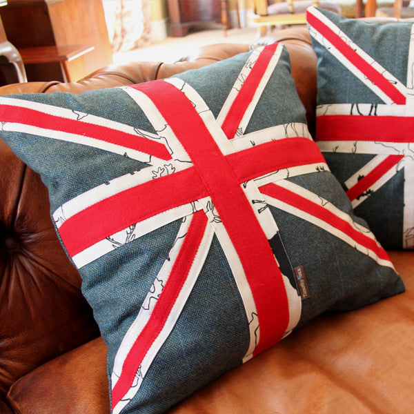 Tweed Union Jack Cushion