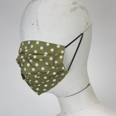 Face Mask in Green Spots