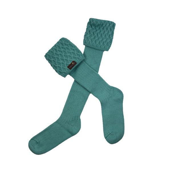 Foxxy Shooting Socks in Sea Green