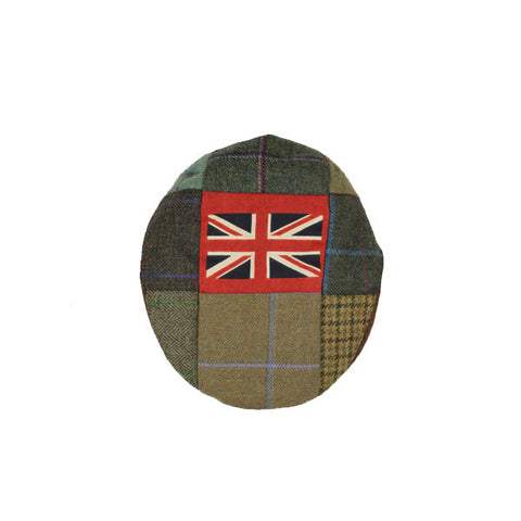 Union Jack Patchwork Tweed Flat Cap