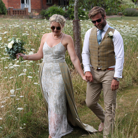 Viola Tweed Wedding Dress
