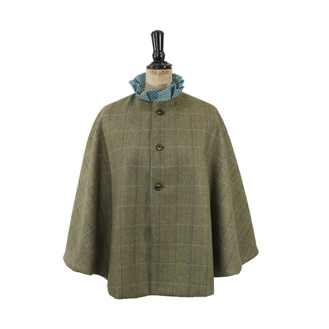 Tweed Cape in Aquamarine