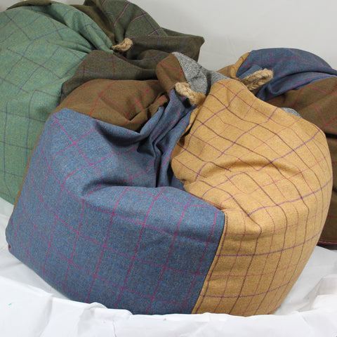 Tweed Patchwork Bean Bag