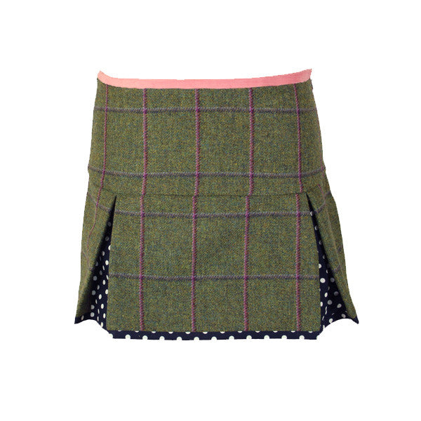 Aimee Tweed Skirt in Belle Navy
