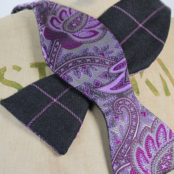 Bow Tie - Purple Paisley