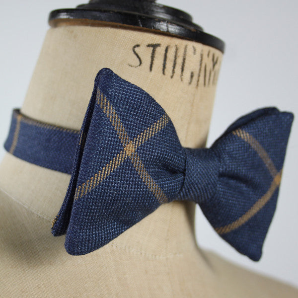 Bow Tie - Blue Tweed