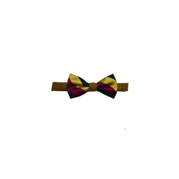 Tweed Bow Tie - Red, Gold and Black silk