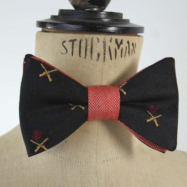 Tweed Bow Tie - Guns and Lions