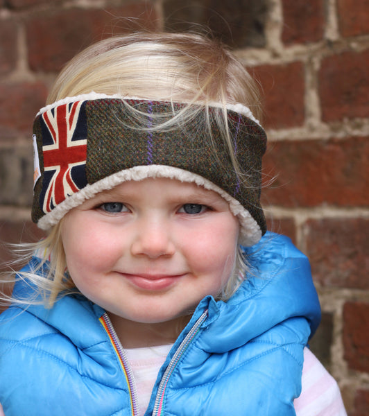 Children's Earwarmer in Duchess Union Jack