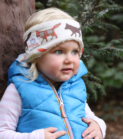 Children's Earwarmer in Large Tartan Foxx