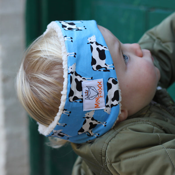 Children's Earwarmer in Cow