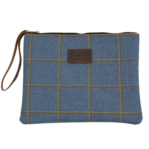 Clutch bag in Foxglove Tweed