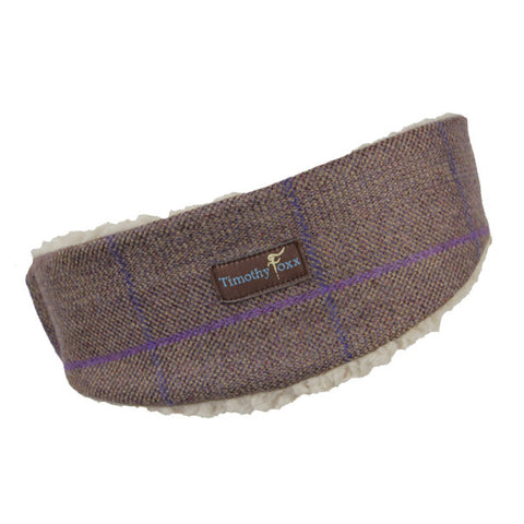 Tweed Ear Warmers in Mauve