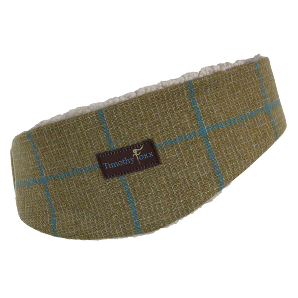 Tweed Ear Warmer in lagoon