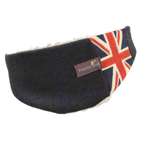 Tweed Ear Warmers - for the Guys in Midnight