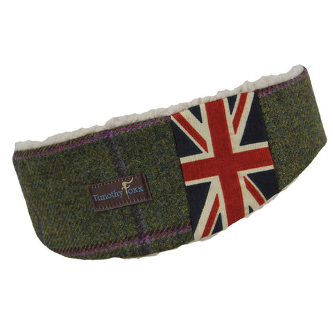 Union Jack Tweed Ear Warmer in Belle