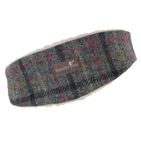 Tweed Ear Warmer in Ash