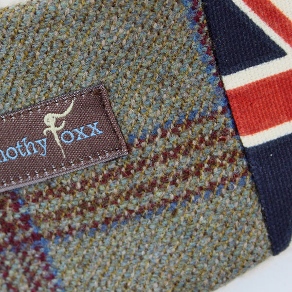 Union Jack Tweed Ear Warmer in Highlander