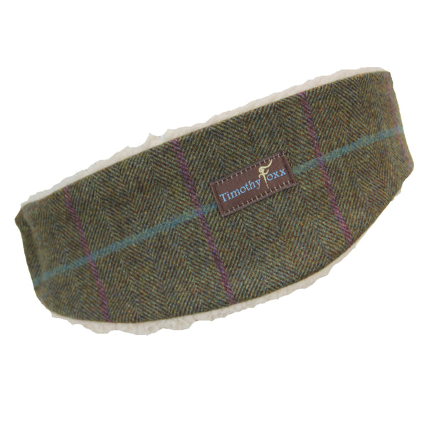 Tweed Ear Warmer in Loganberry
