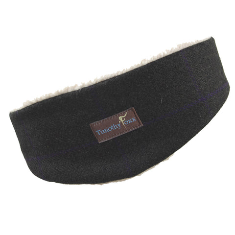 Tweed Ear Warmer in Midnight