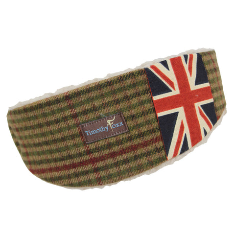 Union Jack Tweed Ear Warmer in Retro