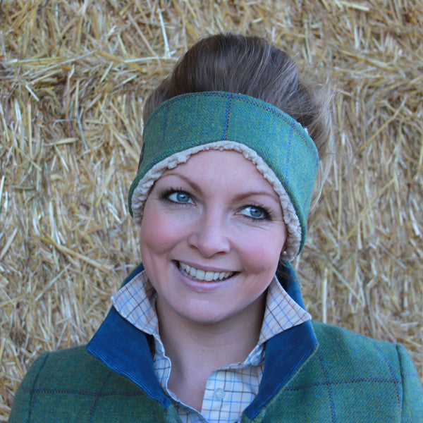 Tweed Ear Warmers in Eliza