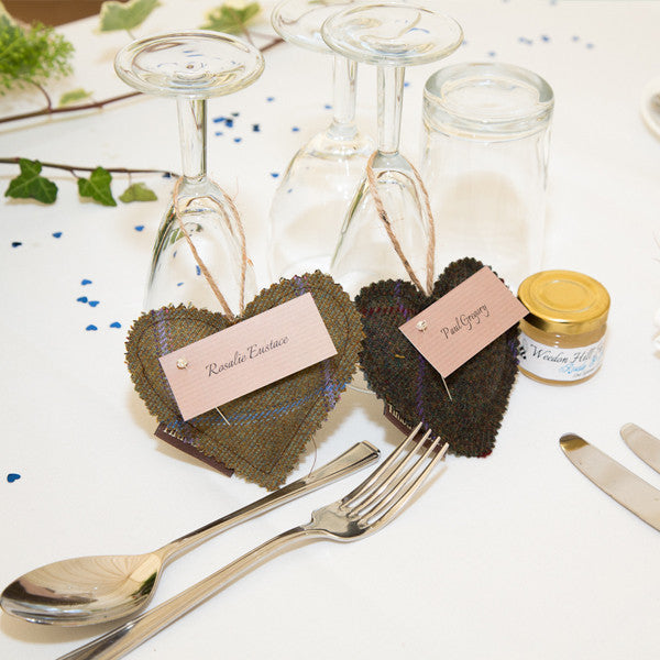 Tweed heart Favours