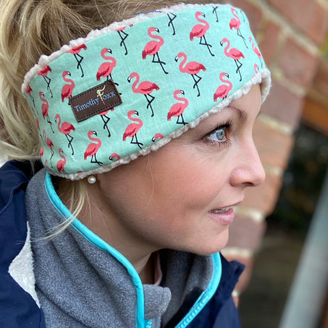 Flamingo Ear Warmer in NEW MINT
