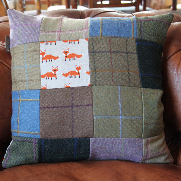 Foxx & Tweed Patchwork Cushion
