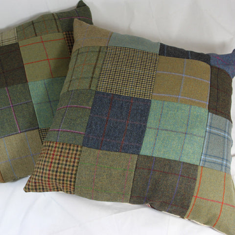 Oversized Tweed Cushion